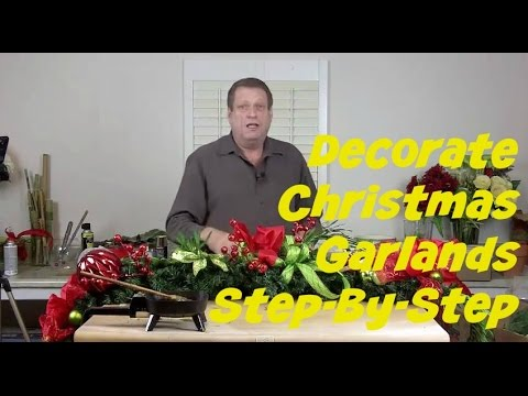 How To Make A Permanent Christmas Garland For Your Mantle