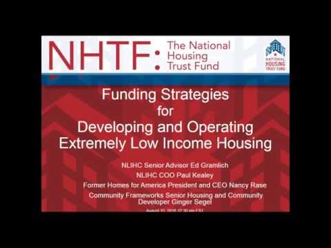 Webinar on Financing and Operating Affordable Housing from August 15, 2016