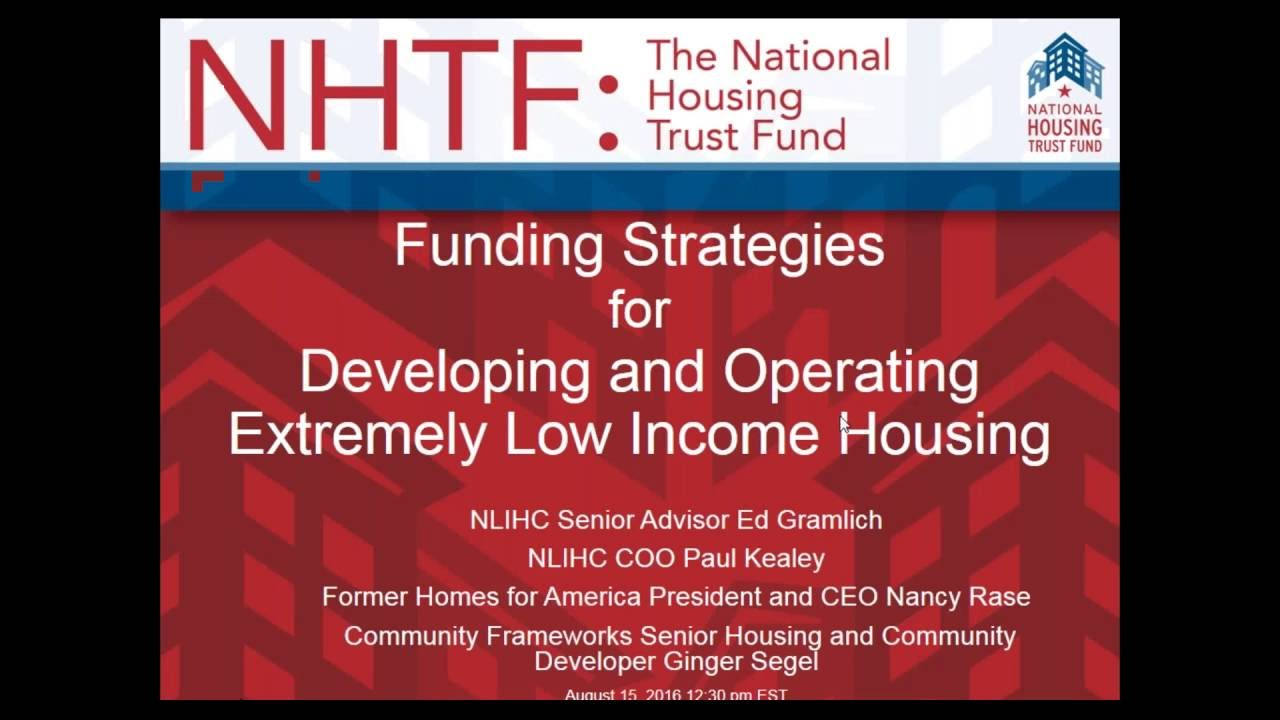 webinar on financing and operating affordable housing from august