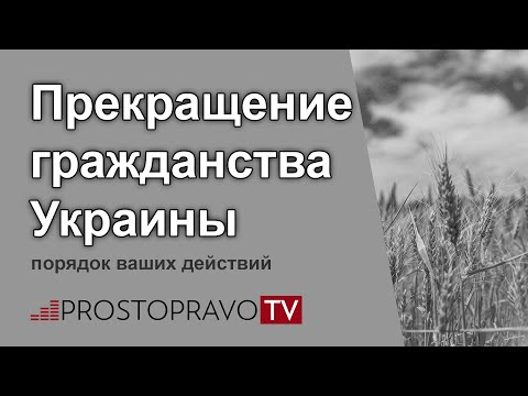 Прекращение гражданства Украины - порядок ваших действий