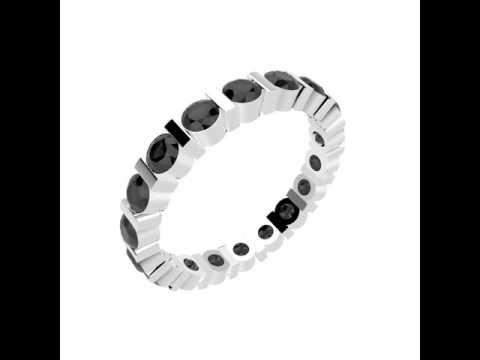 WEDDING RINGS - MYSS, Rings Platinium & Diamond Black