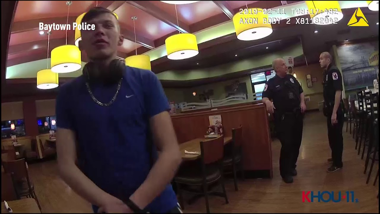 Body cam video from Baytown, TX shows arrest of New