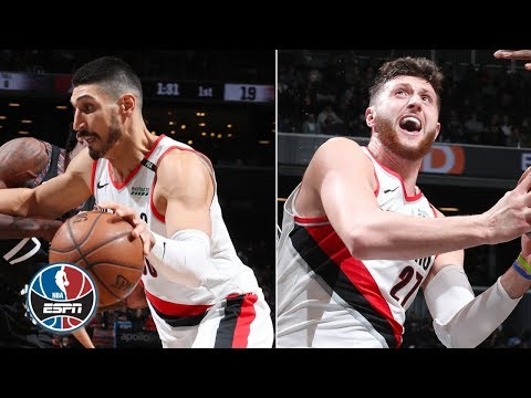 Enes Kanter scores 18 in debut, Jusuf Nurkic adds 27 in Trail Blazers' win | NBA Highlights