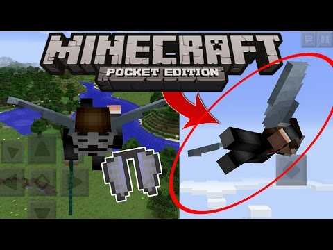 MCPE 0.17.0 UPDATE - FLYING! Elytra WINGS // Gameplay Concept NEWS! Minecraft PE (Pocket Edition)
