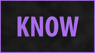 NF - Know (Lyrics) HD