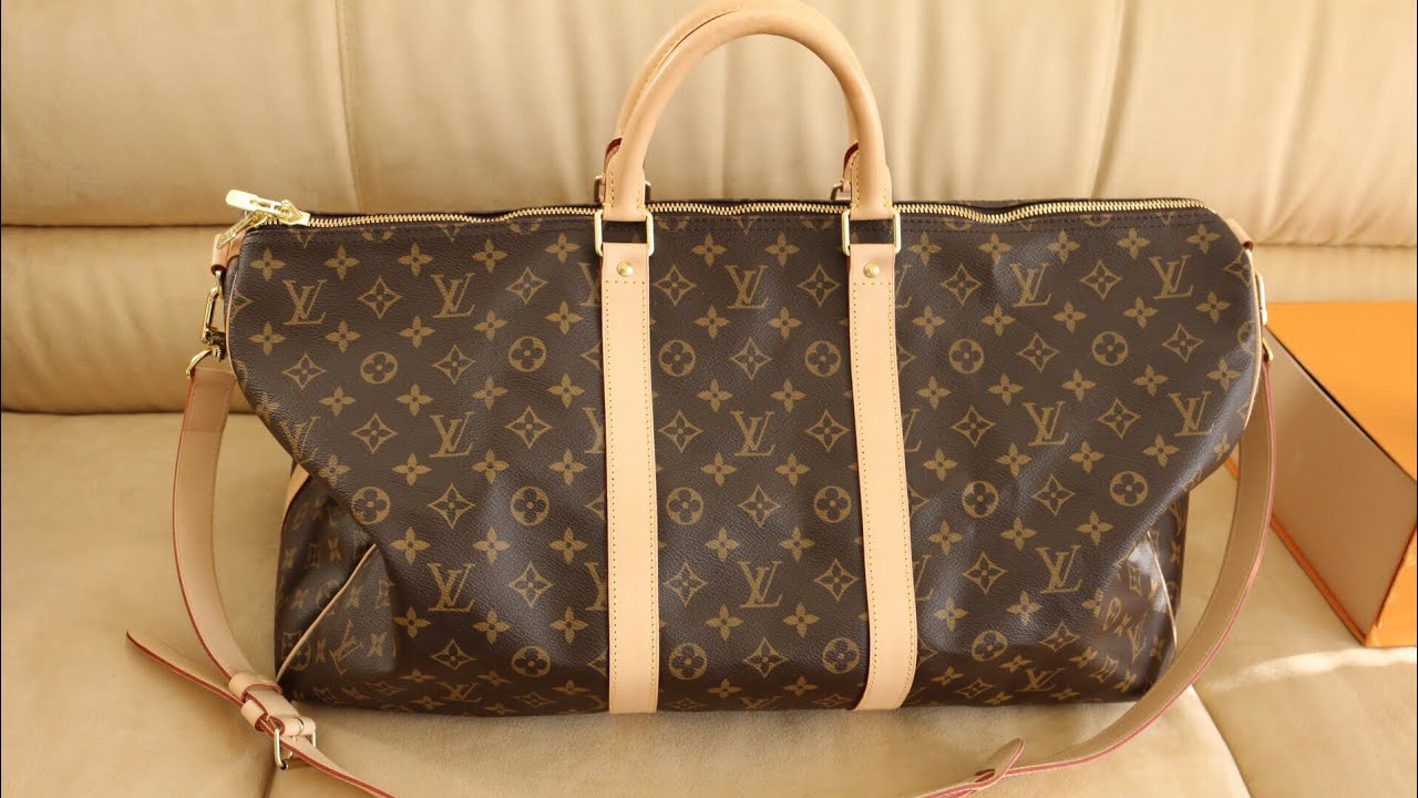 21e9b580feb LOUIS VUITTON KEEPALL 45 VS 50 BANDOULIERE | MOD SHOTS + REIVEW!!