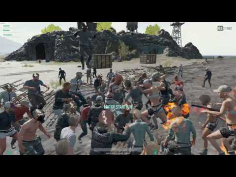 """PLAYER UNKNOWNS BATTLEGROUNDS - LOBBY DANCE PARTY PART 1 """"shooting star"""""""