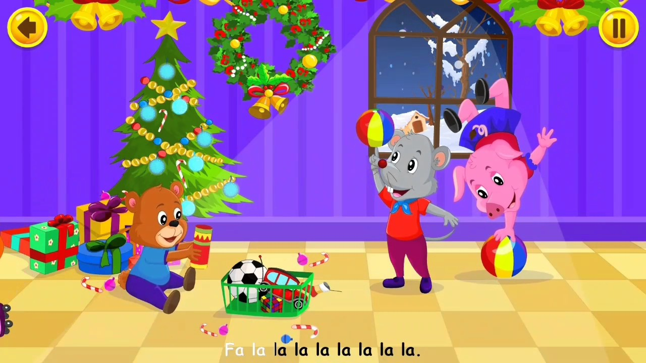 Deck The Halls   Kids Christmas Songs   Sing Along With Lyrics - YouTube