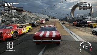 Wreckfest - Deathloop Main Circuit - Xbox One X Gameplay (Realistic Damage)