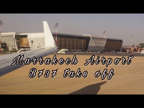 Nice views ! Royal Air Maroc Boeing 737-800 CN-ROT Take off from Marrakech airport