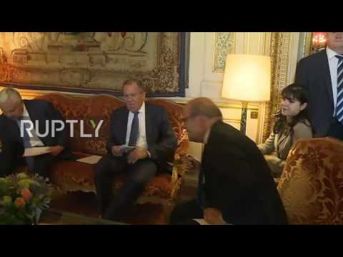 France: Lavrov meets with French FM Le Drian in Paris
