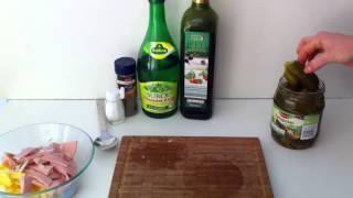Anleitung: Schweizer Wurstsalat machen/ Schweizer Wurstsalat zubereiten/ Leckeres Rezept