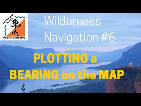 Wilderness Navigation #6 - Plotting a Bearing onto a Map - croc.org