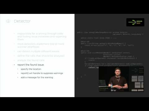 #droidconDE 2015: Marc Prengemann – The power of custom lint checks on YouTube
