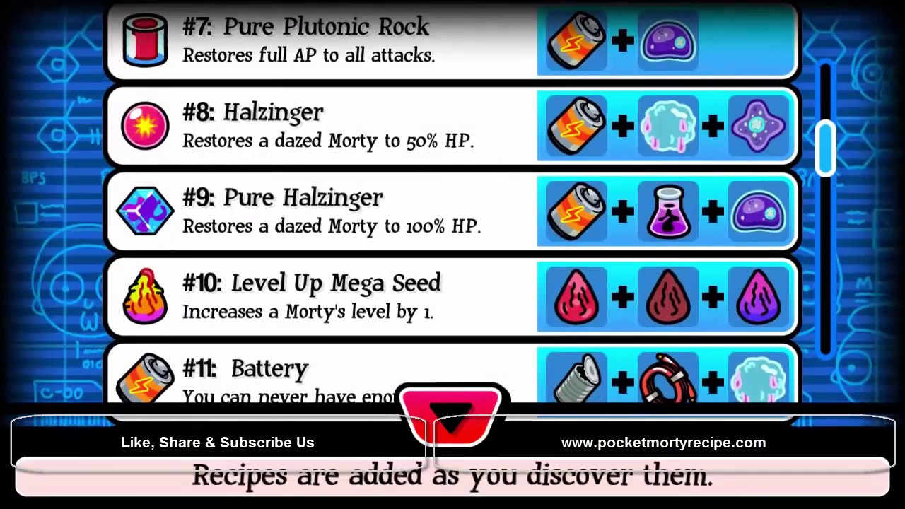 Pocket Mortys Crafting Recipe Latest Full Guide , 2017