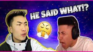 "MYTH REACTS TO RICEGUM ROASTING HIM ""2nd Best Fortnite Player in The World Roasted Me"""