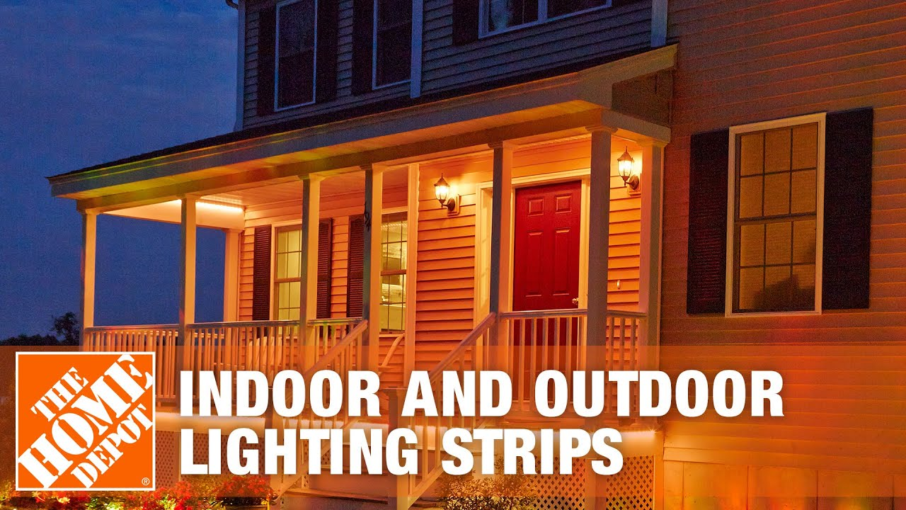 Led Light Strips At Home Depot How To Install Cabled Indoor And Outdoor Lighting Strips The Home Depot