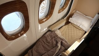 Emirates Boeing 777 new Business Class Brussels to Dubai