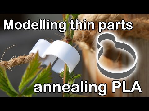 Practical 3D Printing - Thin structures in Fusion 360 & annealing PLA
