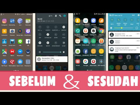 Cara Merubah Tampilan Android FULL Ala Samsung S8 Tanpa Root (Status Bar & Notifikasi) ala Galaxy UI