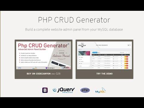 How to create a Bootstrap CRUD Admin Dashboard