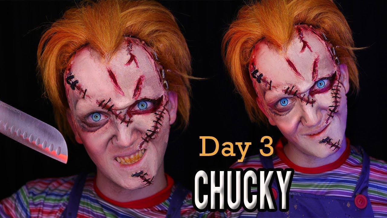 Chucky Halloween Makeup Tutorial | DanielzROTFL - YouTube