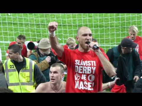 SK Slavia Praha - sparta (1:0) oslava vítězství a Latkova Děkovačka