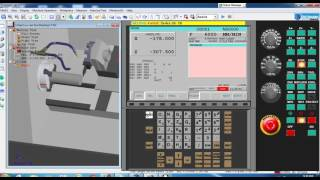 CNC Lathe machine : Tutorial operation machine ( output from mastercam )