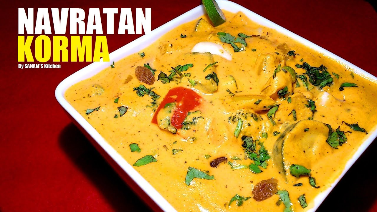 Navratan korma mix veg curry restaurant wedding style youtube forumfinder Image collections