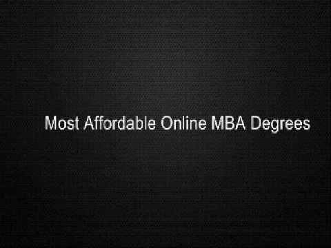 Most Affordable Online MBA Degrees