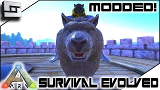 modded ark survival evolved perfect super dire wolf e28 gameplay