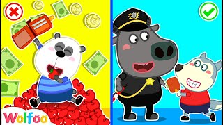 When Wolfoo and Pando Pick Up A Fallen Wallet - Good Manners for Kids | Wolfoo Family Kids Cartoon