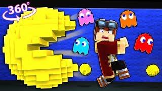 Pac-man In 360° Minecraft - 360° Vr Video