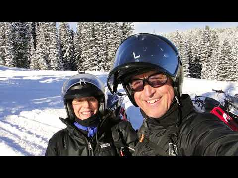 Snowmobiling in West Yellowstone MT   Dec 23 2017