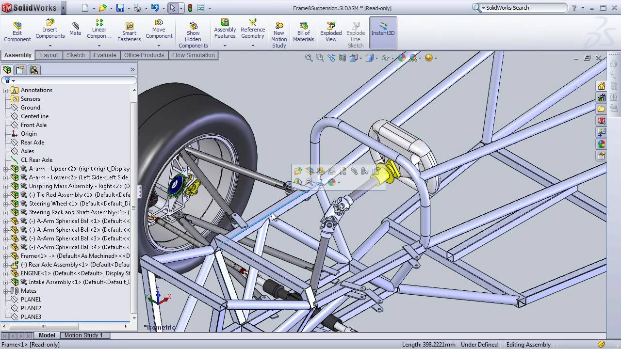 SolidWorks Formula SAE Design Project - YouTube