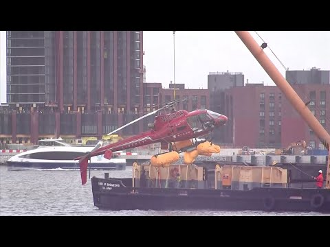 Crashed Helicopter Removed From NYC's East River