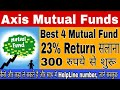 Axis mutual funds - 23 % तक सालाना return - 4 Best mutual fund of Axis bank in 2018