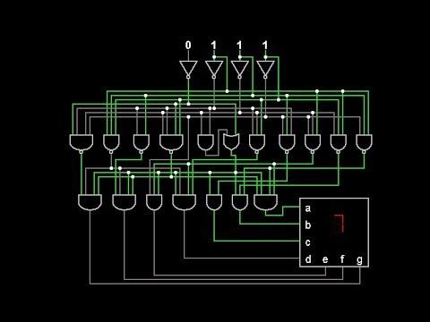 bcd to 7 segment decoder youtube rh youtube com 7-Segment Decoder Circuit bcd to 7 segment decoder logic diagram