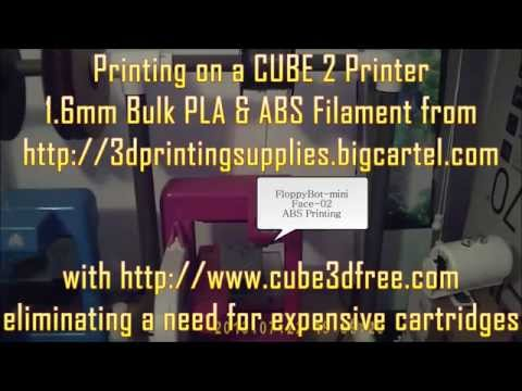 CUBE 2 3D Printer + CUBE 3D Free both PLA & ABS Bulk Printing