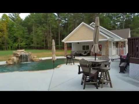Pool house, cabana and garage