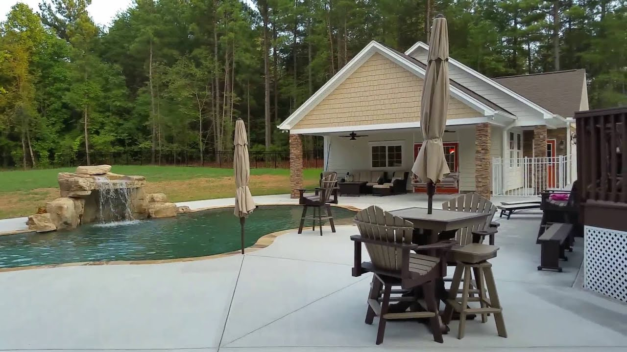 Pool house cabana and garage youtube for Garage pool house