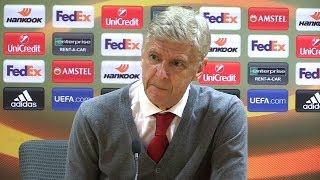 Arsene Wenger Post Match Press Conference   Arsenal 3-1 AC Milan (5-1 Agg)   Europa League