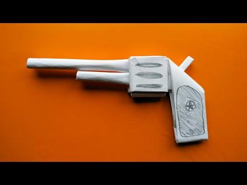 Пистолет из бумаги как сделать пистолет оригами поделки из бумаги своими руками оружие из бумаги