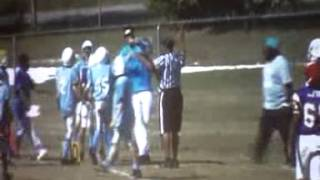 Big Hit by 12 year old safety Trey Adams (Lions)