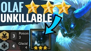 OLAF ⭐⭐⭐ UNKILLABLE! - GLACIAL POISON BEST COMP GUIDE TFT Teamfight Tactics Strategy 9.22 META Set 2