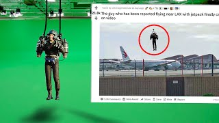 I Fooled the Internet with The FAKE Jetpack At The Airport...