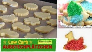 Low Carb Ausstechplätzchen mit Mandelmehl und Erythrit I Low Carb Kekse backen ohne Mehl & Zucker