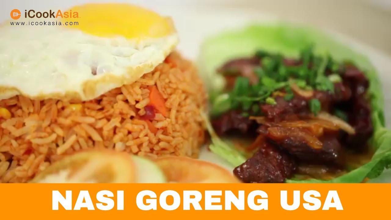 Resepi Nasi Goreng USA | Try Masak | iCookAsia - YouTube