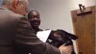 Deputy dog sworn in