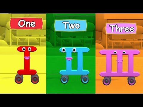 Roman Numerals-numbers-on wheels-Numbers Song